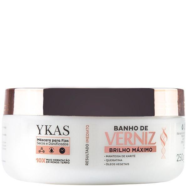 Ykas Banho de Verniz Máscara Brilho Máximo 250g