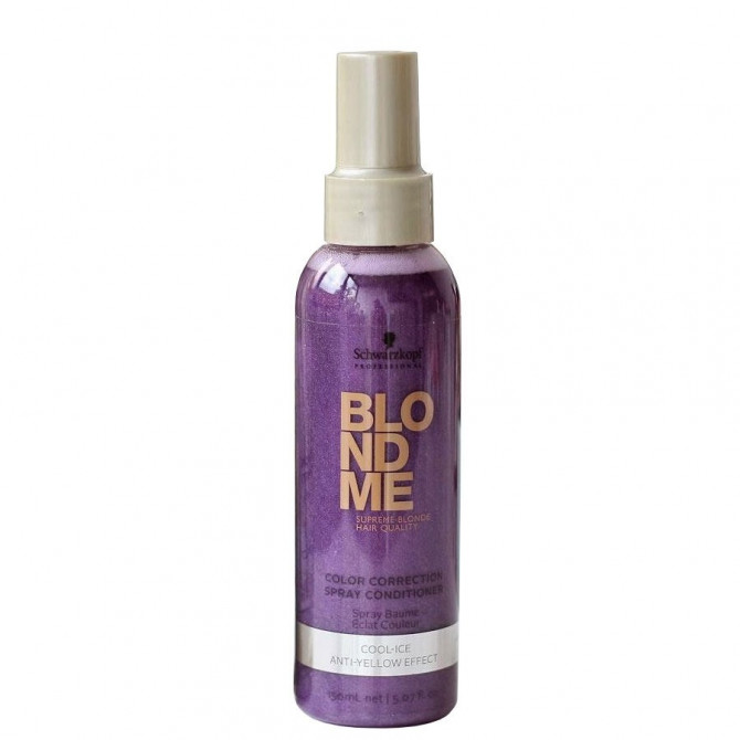 Schwarzkopf Blondme Color Correction Spray Conditioner Cool-Ice Leave-In Matizador 150ml