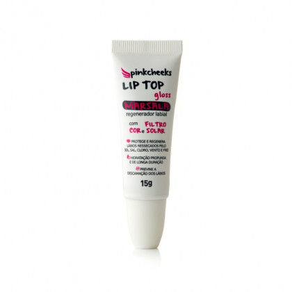 Pinkcheeks Protetor Labial Lip Top Gloss Marsala 15g